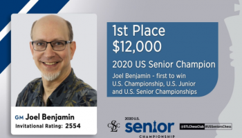 2020 U.S. Senior Champion GM Joel Benjamin