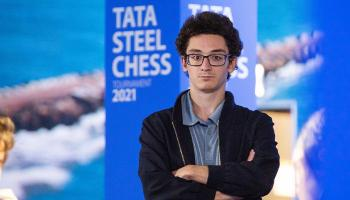 GM Fabiano Caruana at the 2021 Tata Steel Masters