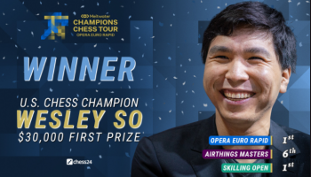 GM Wesley So Wins the Opera Euro Rapid