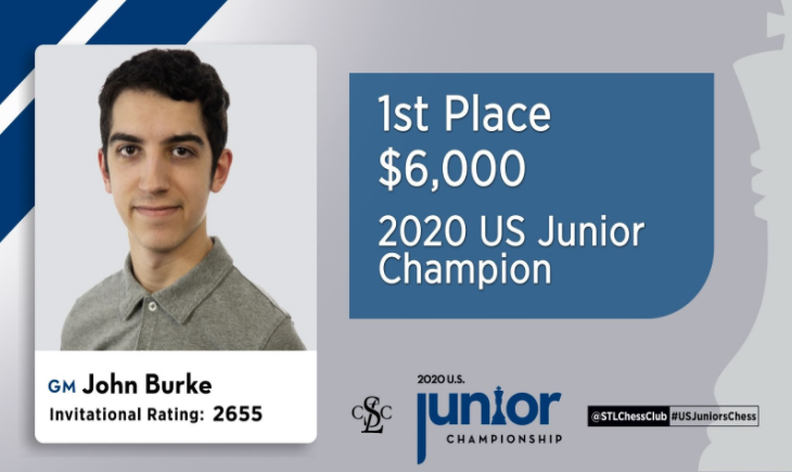 2020 U.S. Junior Champion GM John Burke