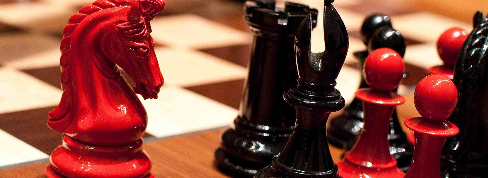 Red and Black Chess Board pieces