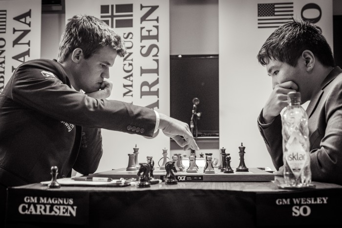 Carlsen vs. So, Photo Grand Chess Tour