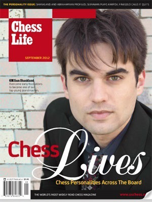 GM Shankland on the cover of the September 2012 Chess Life