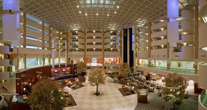 The Washington DC/Rockville Hilton Hotel is centrally located near work and play. Just steps away from the Twinbrook (Red Line) Metro Station, the hotel provides convenience for those looking to explore the Washington DC attractions or are in town for business